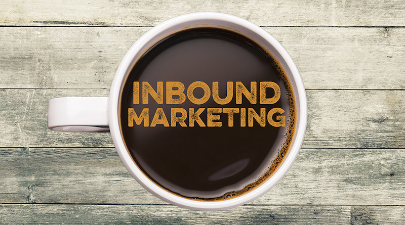 En kopp kaffe med inbound marketing i overflaten